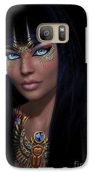 Galaxy Case featuring the digital art Cleopatra   Col by Shadowlea Is
