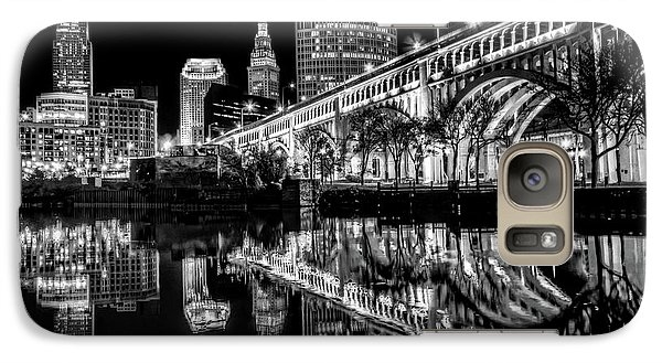 Galaxy Case featuring the photograph Cleveland After Dark by Brent Durken