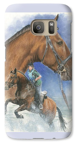 Galaxy Case featuring the painting Cleveland Bay by Barbara Keith