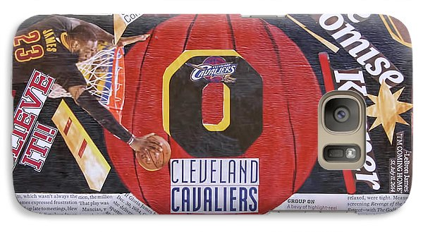 Galaxy Case featuring the painting Cleveland Cavaliers 2016 Champs by Colleen Taylor