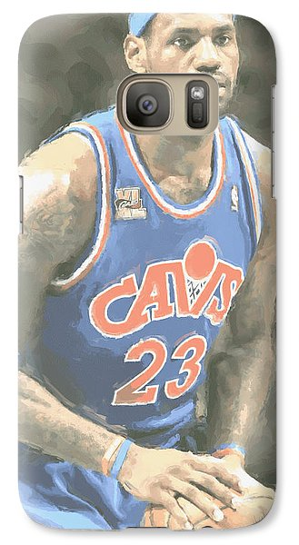 Cleveland Cavaliers Lebron James 1 Galaxy Case by Joe Hamilton