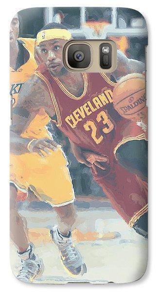 Cleveland Cavaliers Lebron James 3 Galaxy S7 Case by Joe Hamilton