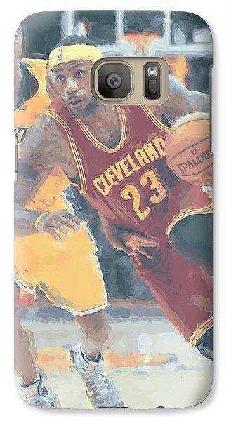 Cleveland Cavaliers Lebron James 3 Galaxy Case by Joe Hamilton
