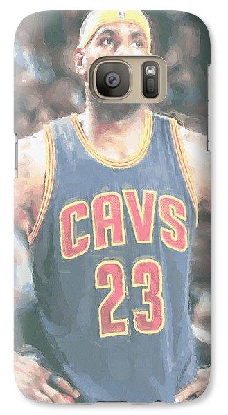 Cleveland Cavaliers Lebron James 5 Galaxy Case by Joe Hamilton