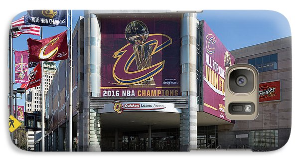 Galaxy Case featuring the photograph Cleveland Cavaliers The Q by Dale Kincaid