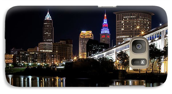 Galaxy Case featuring the photograph Cleveland In The World Series 2016 by Dale Kincaid