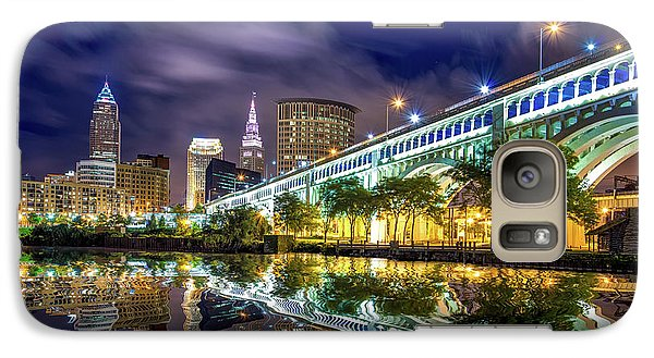 Galaxy Case featuring the photograph Cleveland Skyline 4 by Emmanuel Panagiotakis
