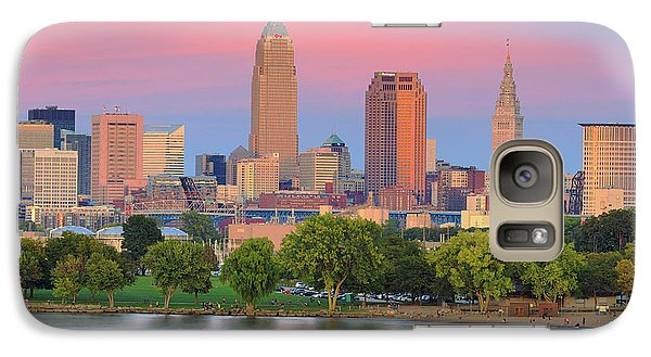 Galaxy Case featuring the photograph Cleveland Skyline 6 by Emmanuel Panagiotakis
