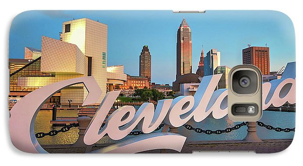 Galaxy Case featuring the photograph Cleveland's North Coast by Brent Durken