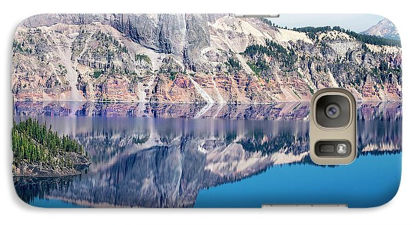 Galaxy Case featuring the photograph Cliff Rim Of Crater Lake by Frank Wilson