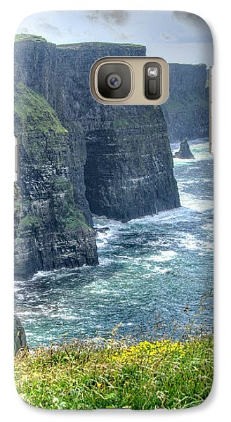 Galaxy Case featuring the photograph Cliffs Of Moher by Alan Toepfer