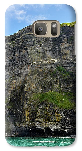 Galaxy Case featuring the photograph Cliffs Of Moher From The Sea Close Up by RicardMN Photography