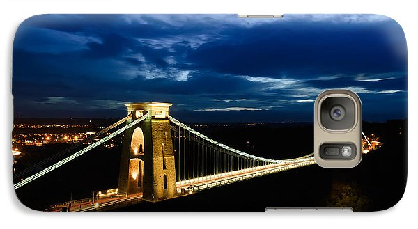 Galaxy Case featuring the photograph Clifton Suspension Bridge, Bristol. by Colin Rayner