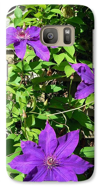 Galaxy Case featuring the photograph Climbing Clematis by Susan Carella