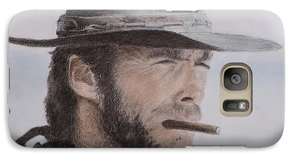Clint Eastwood Drawing Galaxy Case by Timea Mazug