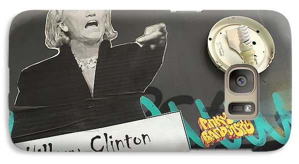 Clinton Message To Donald Trump Galaxy S7 Case by Funkpix Photo Hunter