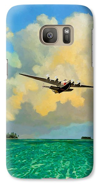 Galaxy Case featuring the painting Clipper Over The Islands by David  Van Hulst