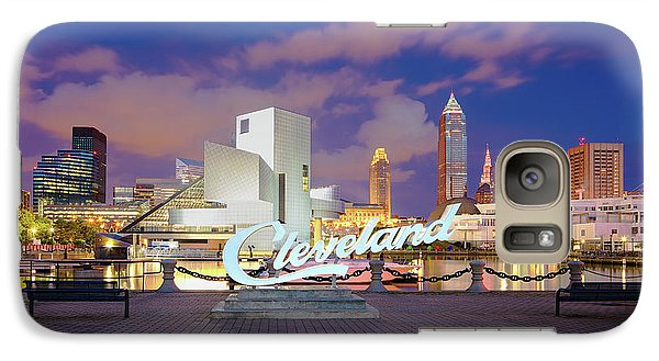 Galaxy Case featuring the photograph Cliveland Skyline  by Emmanuel Panagiotakis