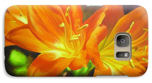 Galaxy Case featuring the painting Clivias by Chris Hobel
