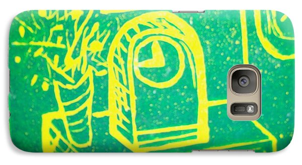 Galaxy Case featuring the mixed media Clock by Erika Chamberlin