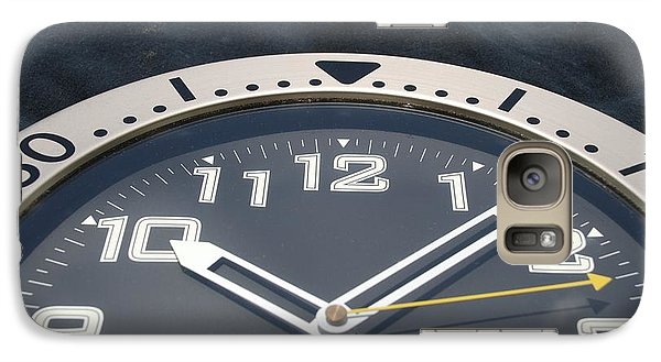 Galaxy Case featuring the photograph Clock Face by Rob Hans