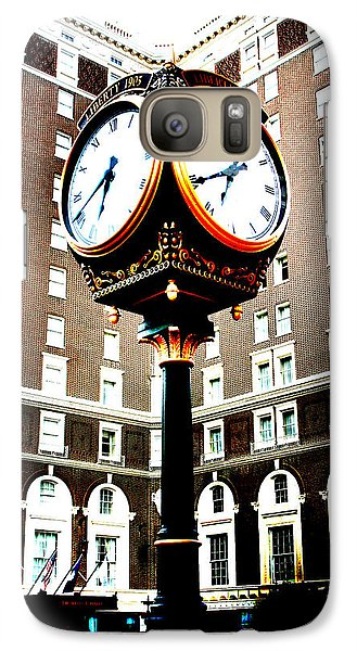 Galaxy Case featuring the photograph Clock by Kelly Hazel