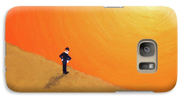 Galaxy Case featuring the painting Close To The Edge by Thomas Blood
