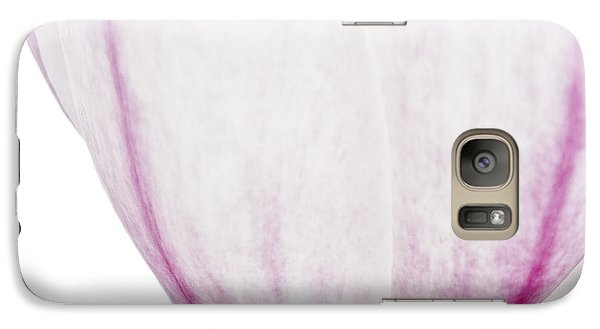 Galaxy Case featuring the photograph Abstract White Red Pink Flowers Macro Photography Art Work Square by Artecco Fine Art Photography