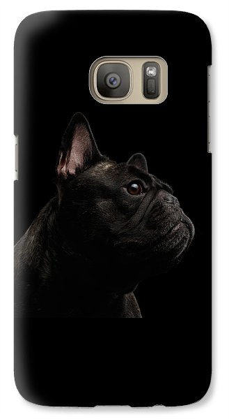 Dog Galaxy S7 Case - Close-up French Bulldog Dog Like Monster In Profile View Isolated by Sergey Taran