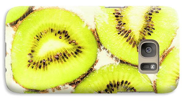 Close Up Of Kiwi Slices Galaxy Case by Jorgo Photography - Wall Art Gallery