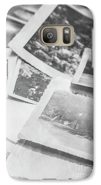 Close Up On Old Black And White Photographs Galaxy S7 Case
