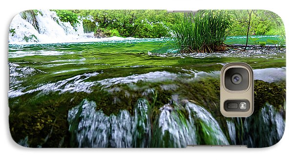 Close Up Waterfalls - Plitvice Lakes National Park, Croatia Galaxy S7 Case