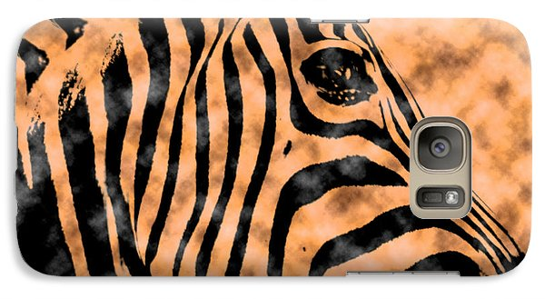 Galaxy Case featuring the digital art Cloud Face Zebra by Bartz Johnson