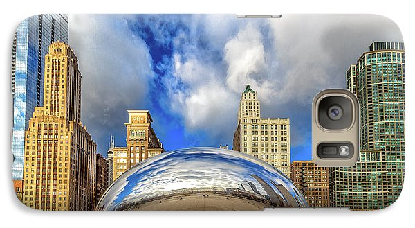 Galaxy Case featuring the photograph Cloud Gate @ Millenium Park Chicago by Peter Ciro
