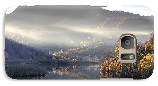 Galaxy Case featuring the photograph Mist In The Evening by Gouzel -