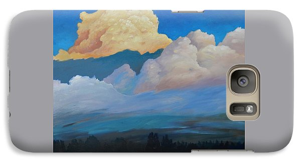 Galaxy Case featuring the painting Cloud On The Rise by Gary Coleman