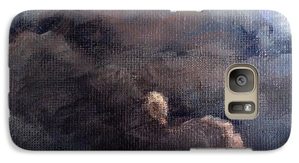 Galaxy Case featuring the painting Cloud Study #1 by Jessica Tookey