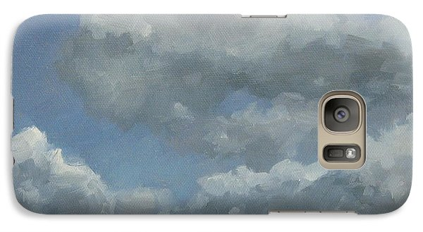 Galaxy Case featuring the painting Cloud Study #3 by Jennifer Boswell