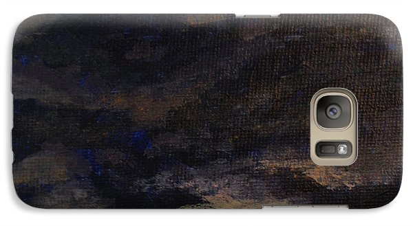 Galaxy Case featuring the painting Cloud Study #5 by Jessica Tookey