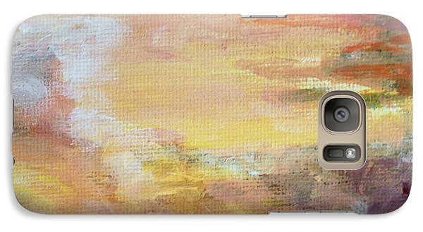 Galaxy Case featuring the painting Cloud Study #6 by Jessica Tookey