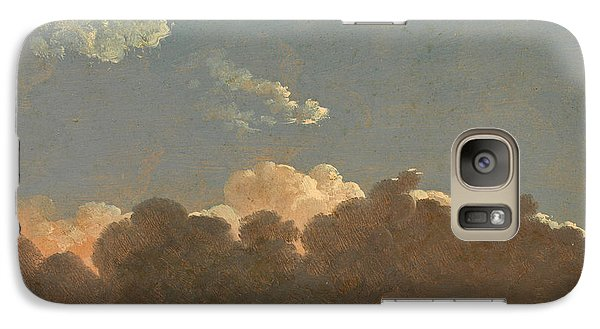 Galaxy Case featuring the painting Cloud Study. Distant Storm by Simon Denis