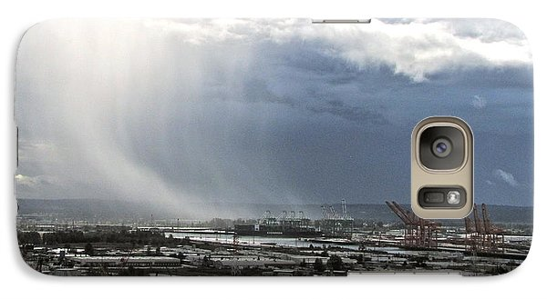 Galaxy Case featuring the photograph Cloudburst - Tacoma by Sean Griffin