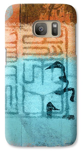 Galaxy Case featuring the photograph Clouded Calligraphy by Carol Leigh