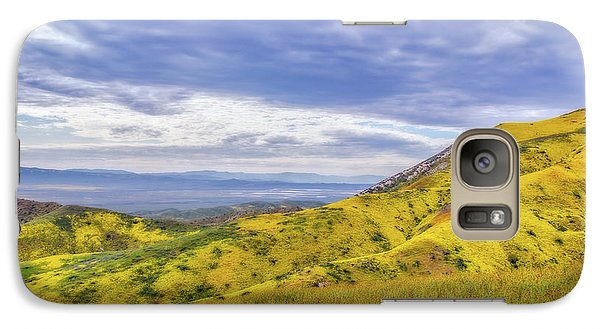 Galaxy Case featuring the photograph Clouds Above Temblor Range by Marc Crumpler