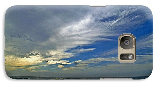 Galaxy Case featuring the photograph Clouds And Blue by Christopher Woods
