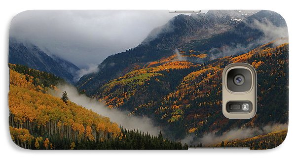Galaxy Case featuring the photograph Clouds And Fog Encompass Autumn At Mcclure Pass In Colorado by Jetson Nguyen