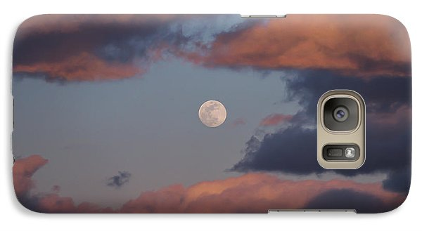 Galaxy Case featuring the photograph Clouds And Moon March 2017 by Terry DeLuco