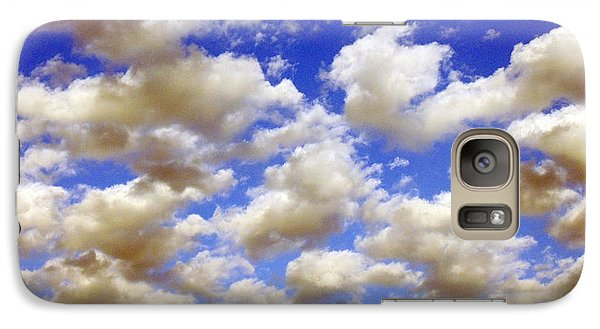 Galaxy Case featuring the digital art Clouds Blue Sky by Jana Russon