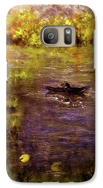 Galaxy Case featuring the painting Clouds.. by Cristina Mihailescu