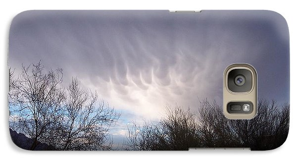 Galaxy Case featuring the painting Clouds In Desert by Mordecai Colodner